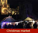 The Lincoln Christmas Market in Lincoln, Lincolnshire, England